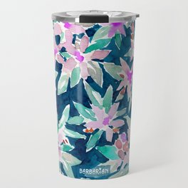 LET GO Tropical Watercolor Floral Travel Mug