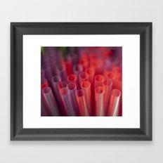 Colorful Straws Framed Art Print