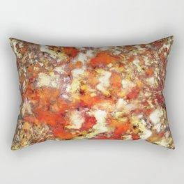 Under the red ocean Rectangular Pillow