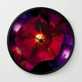 Morning Glory V Wall Clock