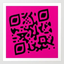 QR Clothes Magenta Art Print