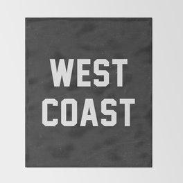 West Coast - black version Throw Blanket