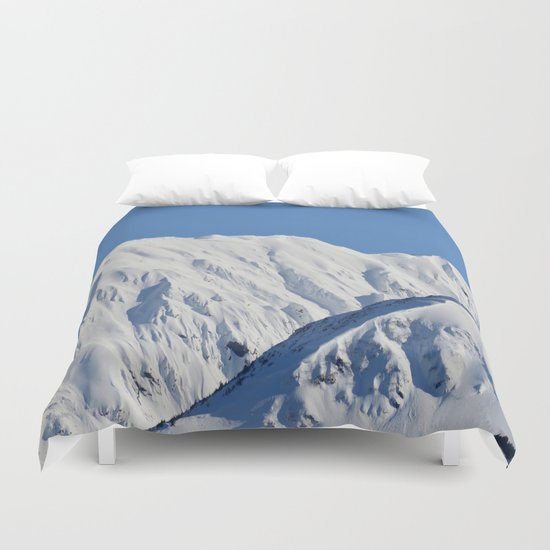 Portage Valley Mts. Duvet Cover