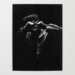 The.Weeknd Portrait black and white Poster