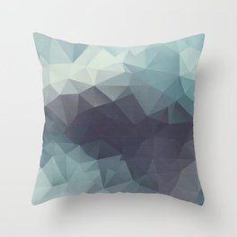 Polygon pattern . Triangles with a texture craquelure . 2 Throw Pillow