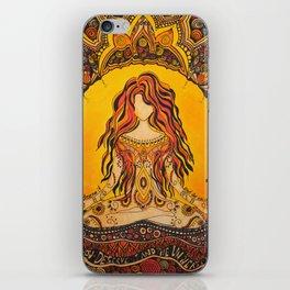 Meditation woman iPhone Skin