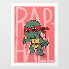 TMNT: Raphael (Cute & Dangerous) Art Print