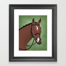 The Stunning Dressage Horse Framed Art Print