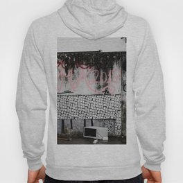 White, Pink, And Black Paints On Wall - Alfama, Portugal Hoody