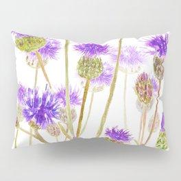 purple thorny wildflower Pillow Sham