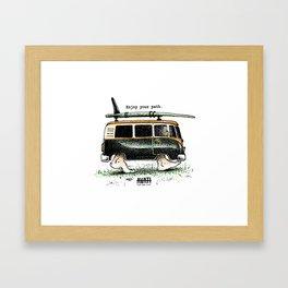 Combi walker Framed Art Print