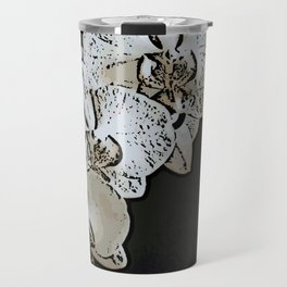 Orchid Woodcut Travel Mug