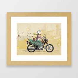 Spring Rider Framed Art Print