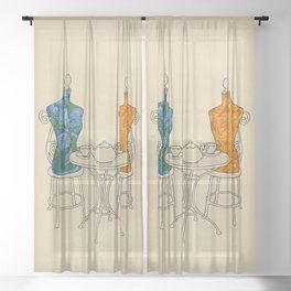 High Tea Sheer Curtain