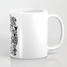 GIRL with SKULL AND SNAKE - PINK Coffee Mug