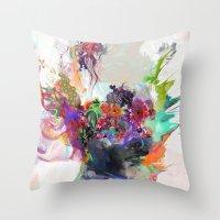 archan nair Throw Pillows featuring Awake by Archan Nair