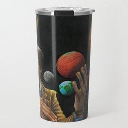Portrait of Carl Sagan Travel Mug