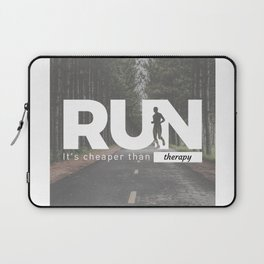 Run Cheaper Than Therapy Running Runners Treatment Laptop Sleeve