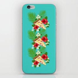 Hawaiian Pizza in a Hawaiian Print iPhone Skin