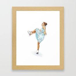 Figure Skating Heel Grab Framed Art Print