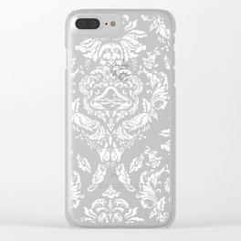 SLOTH FLORAL DAMASK Clear iPhone Case
