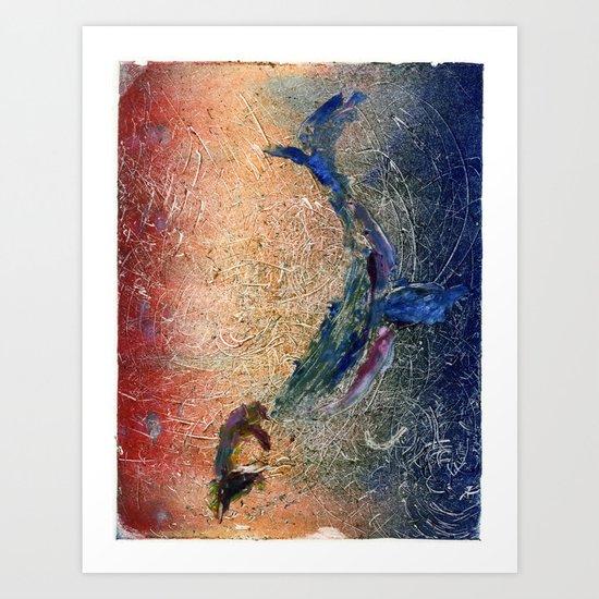 Humpback Whale and Calf Art Print