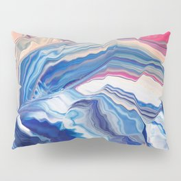 The wave with pink trails Pillow Sham
