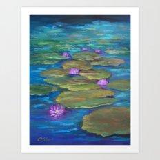 Balboa Park Waterlilies AC151005a-12 Art Print