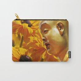 Buddha mit gelben Blumen Carry-All Pouch