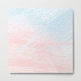 pink pastel and blue pastel Metal Print