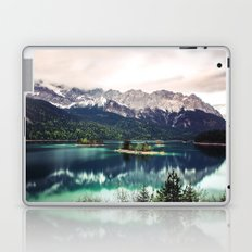 Green Blue Lake and Mountains - Eibsee, Germany Laptop & iPad Skin