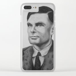 Alan Turing Pastel Clear iPhone Case