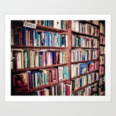 Library Shelves Art Print