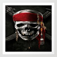 pirate Art Prints featuring PIRATE by Acus