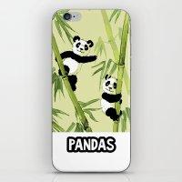 pandas iPhone & iPod Skins featuring Pandas by Volha