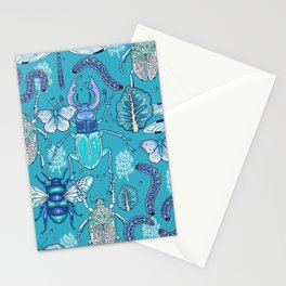 blue bugs Stationery Cards
