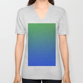 RESTING STATE - Minimal Plain Soft Mood Color Blend Prints Unisex V-Neck