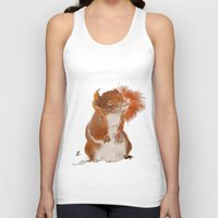 furry Tank Tops featuring Furry Friend by tgronberg