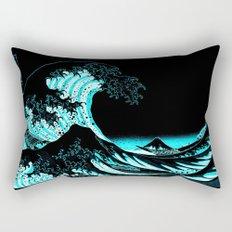 The Great Wave :  Teal Rectangular Pillow