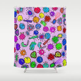 Bacteria Background Shower Curtain