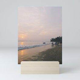 Sunset Surf on Kabalana Beach, Ahangama, Sri Lanka 2 Mini Art Print