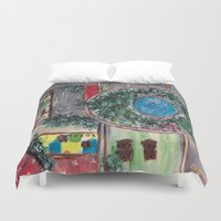 wonderland Duvet Covers featuring Wonderland by Shereen Yap