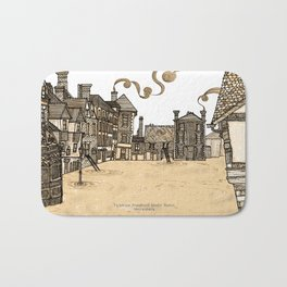 Victorian Frankwell Under Water, sepia Bath Mat