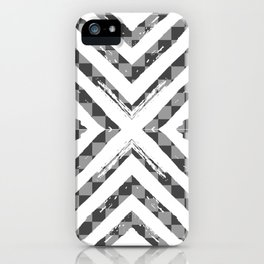 Grey Checkered Paattern iPhone Case