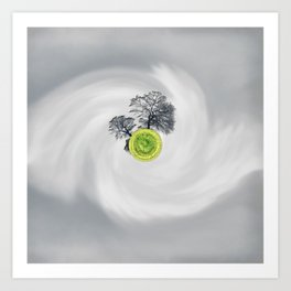 The Whirled Art Print