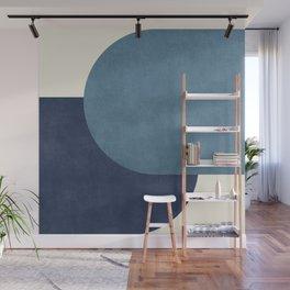 Halfmoon Colorblock - Blue Wall Mural