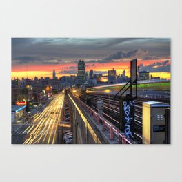 Queens Boulevard Sunset Canvas Print