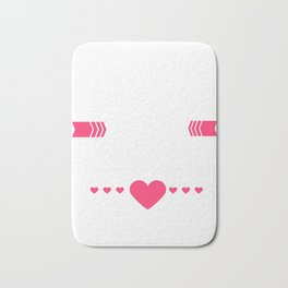 Love Is In The Air Cupids Hearts Valentines Day Romance Lovers Date Gift Bath Mat