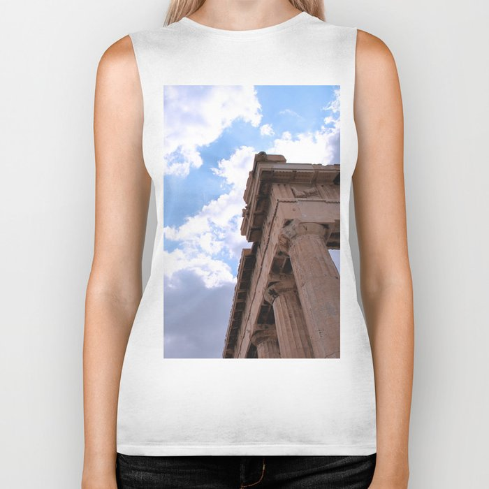 Sky above Parthenon Biker Tank