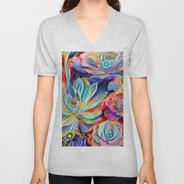 Escheveria Delight Unisex V-Neck